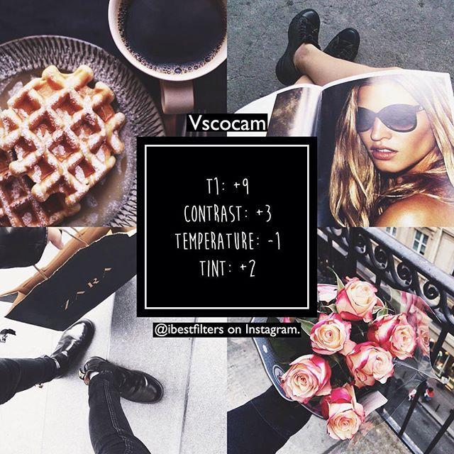 VSCO Cam Filter Settings for Instagram Photos | Filter T1