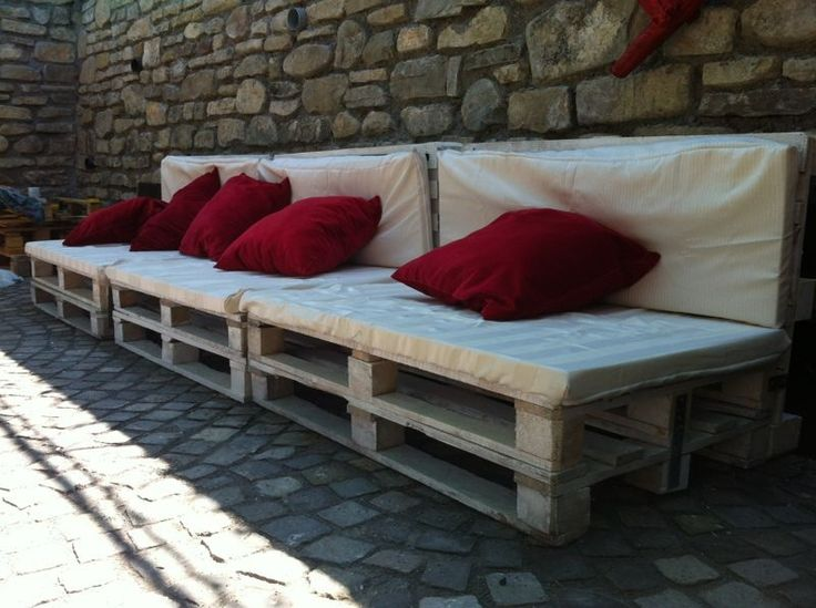 Pallet furniture for Guesthouse Pension  #Lounge, #Pallet, #Sofa