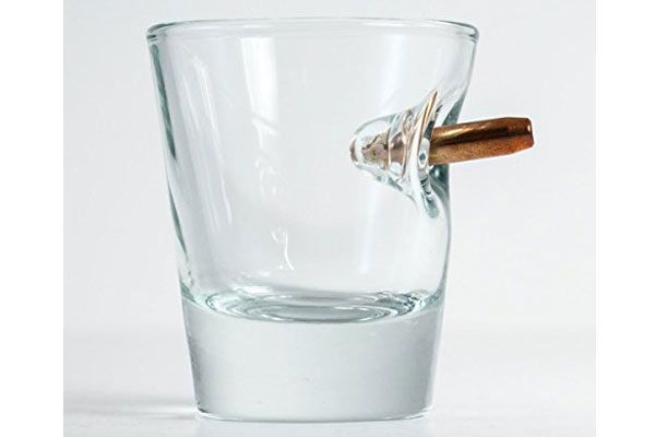 20 Interesting And Affordable Gifts For Him That Wont Break Your Bank - Shot Glass With Real Bullet - Click to read more