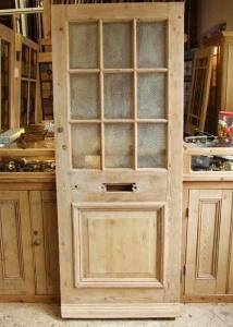 Victorian pine front door