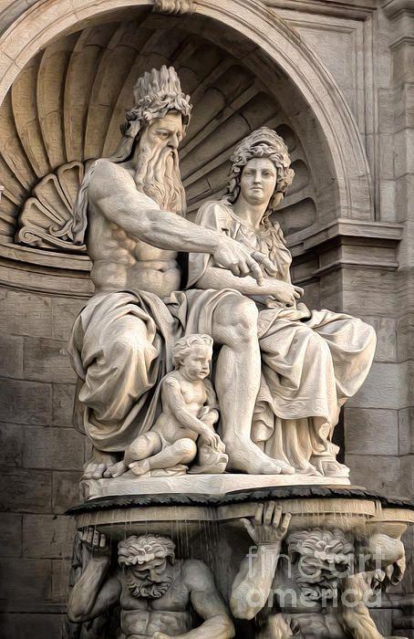 Neptune Fountain, Vienna, Austria