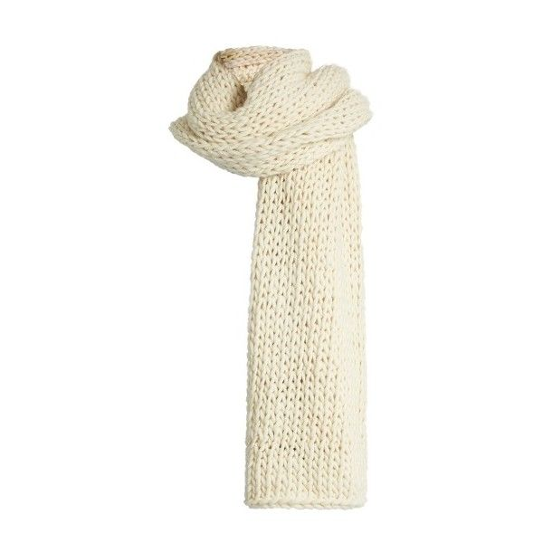 I Love Mr Mittens Long wool scarf ($260) ❤ liked on Polyvore featuring accessories, scarves, cream, oblong scarves, woolen scarves, chunky scarves, wool shawl and wrap shawl