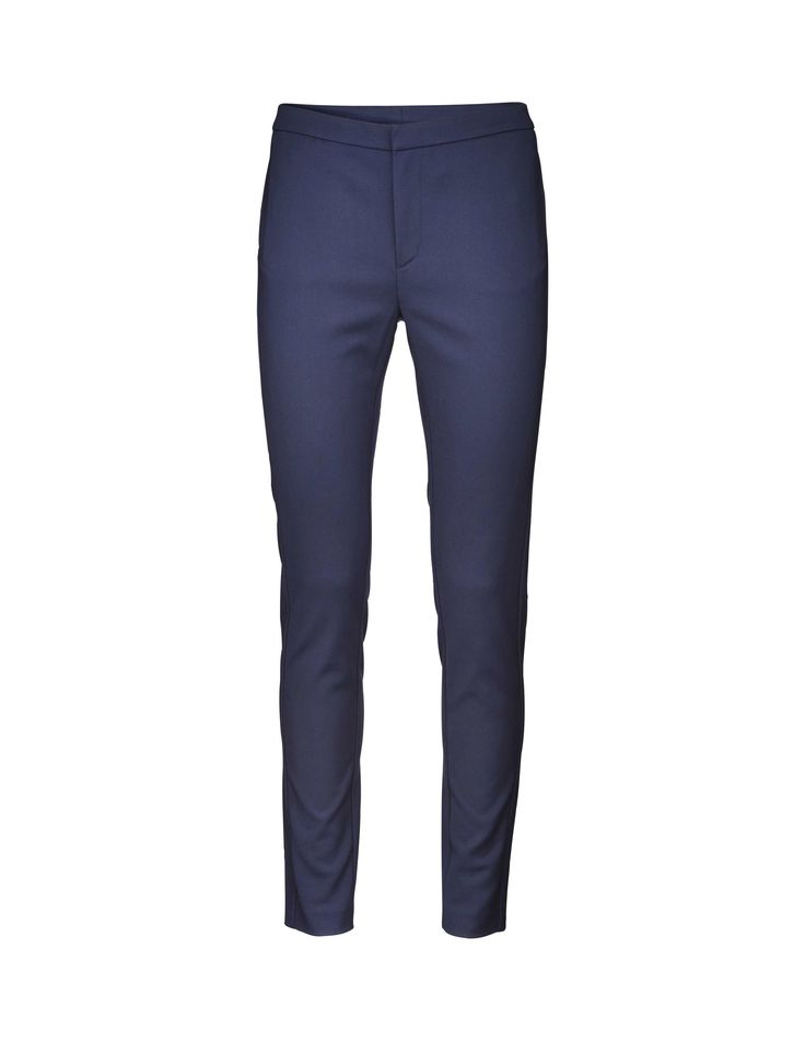 Cristin S trousers - Women's trousers in soft cotton-blend. Feature front zipper and side panel at leg. Cutline detail at back yoke and front. Extra-slim fit.