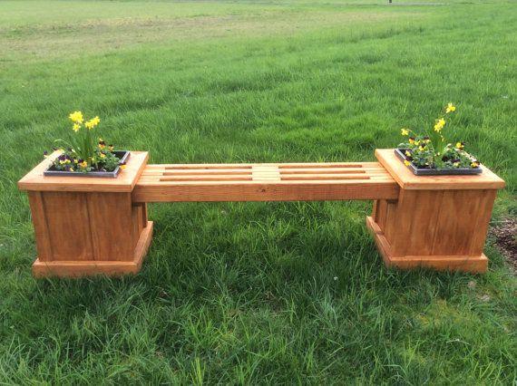 Garden Planter Bench