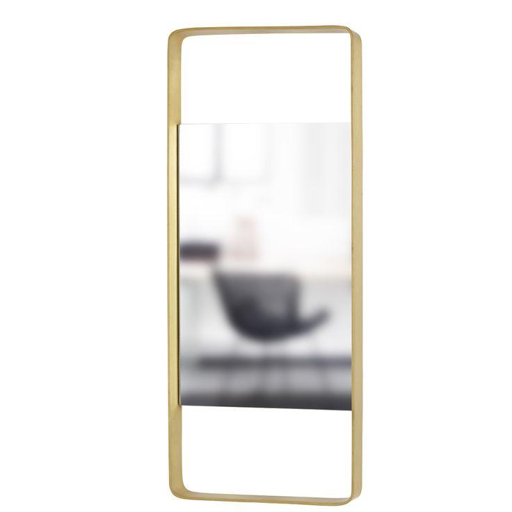 Spegel med mässingsram 76 cm, Hubsch