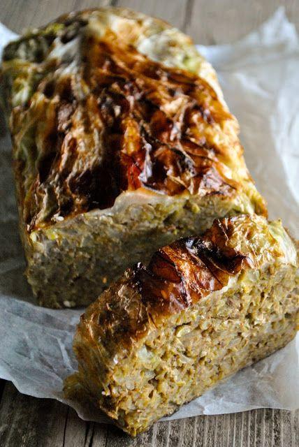 Vegan lentil loaf with cabbage. Gluten free.  RECIPE: http://www.vegansandra.com/2017/03/vegan-lentil-loaf-with-cabbage-gluten.html