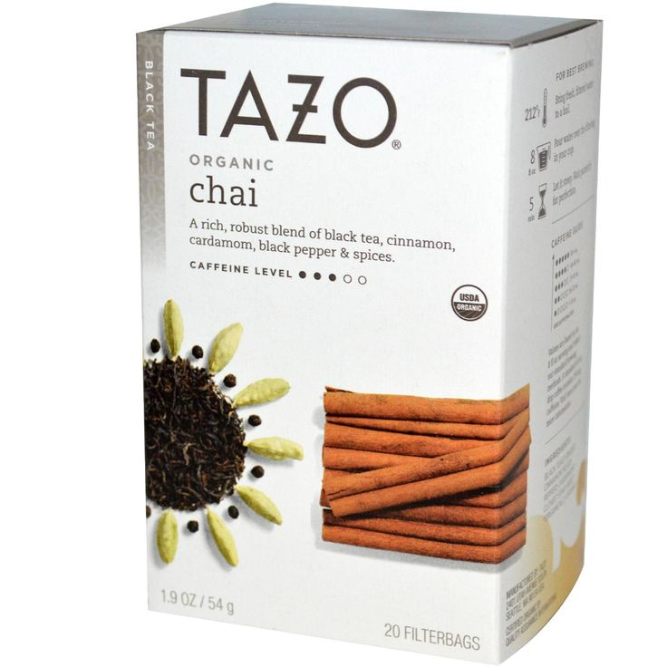 "Tazo Organic Chai (bagged) is a blend of black tea, cinnamon, cardamom, black pepper and ""spices.""  The nose is unmistakably chai, the cinnamon and cardamom come through very strong.  The flavor is similar, a decent chai but not exactly out of this world.  Those black pepper notes come through mostly at the end.  Chai is very popular with milk and as a base for all kinds of dessert lattes."