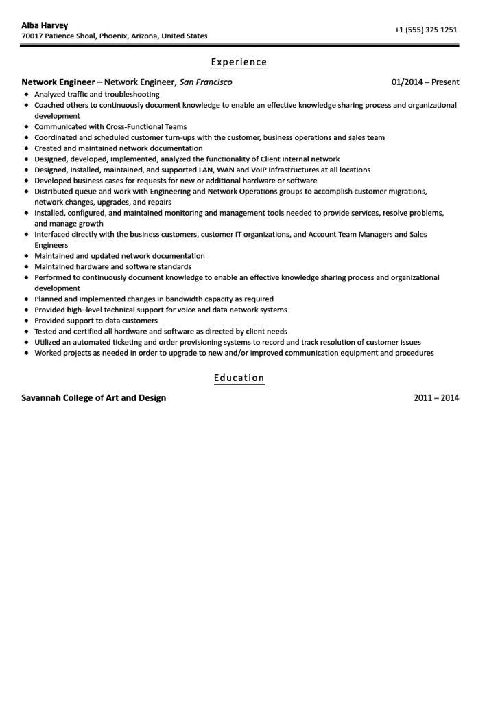 Resume Examples Network Engineer 2021 In 2021 Resume Examples Network Engineer Resume Summary Examples