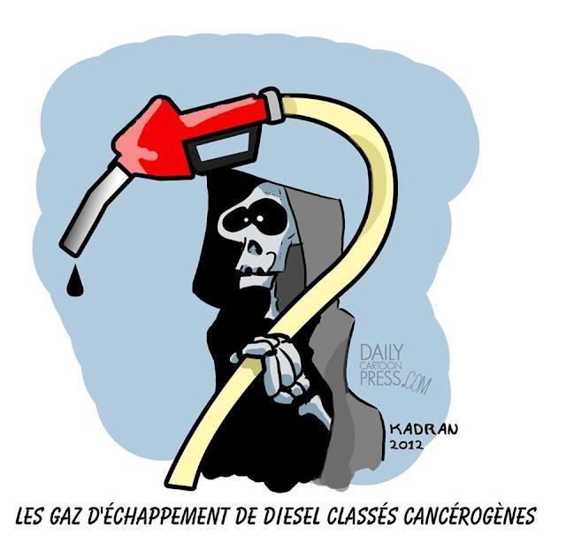 """"""" La faucheuse Diesel """" Illustration à la demande à partir de 50 € le sujet. Envoyez vos sujets à kadranweb@gmail.com"""