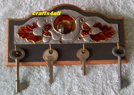 """ Key Holder "" - We are situated in South Africa - Ravenswood. Boksburg. - We give Hand Metal Embossing Lessons. Pop Us a Mail for More Info. Visit Our Websites. www.crafts4all.co.za and www.woodwarehouse..."