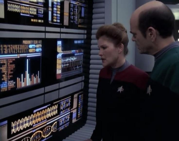 "Star Trek: Voyager Screencap--""Fury""... ""Tachyon particles?!  Temporal distortions?! FML!"""