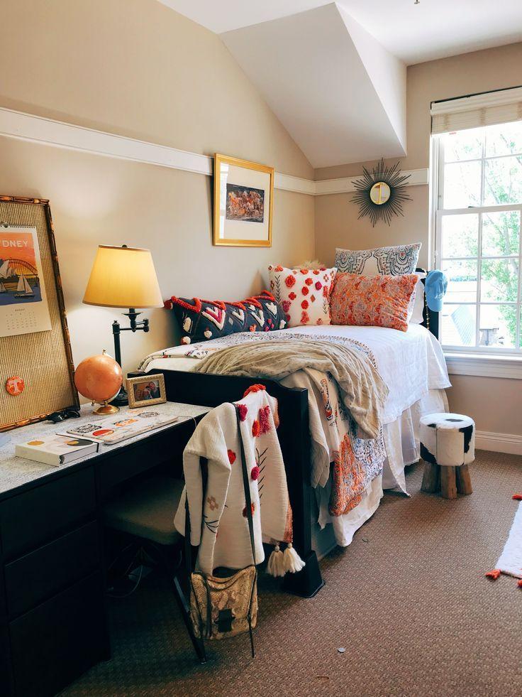 Anthropologie Room Cheetah Boho Dorm Room Sorority Room Bedding Desk College Bedroom Decor Dorm Room Decor Dorm Room Inspiration