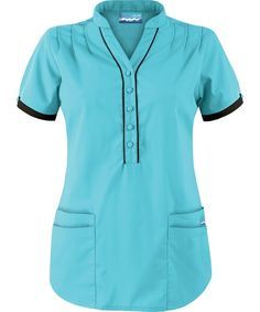 UA278C Butter-Soft Scrubs by UA™ Women's Mandarin Collar Four Pocket Scrub Top http://www.uniformadvantage.com/pages/prod/ua278c-mandarin-collar-top-js.asp?frmcolor=tibla