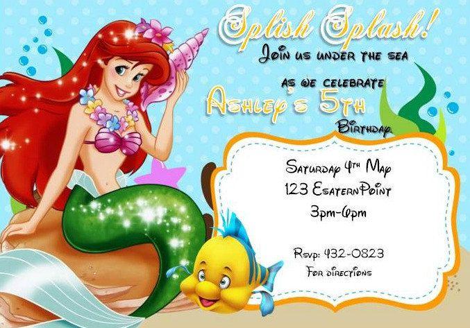 Little Mermaid Invitation for nice invitations example