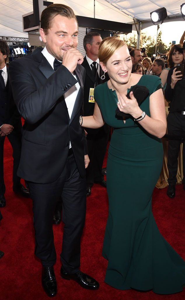 Leonardo DiCaprio and Kate Winslet Were So Cute Together at the 2016 SAG Awards It Was Actually Ridiculous | E! Online Mobile