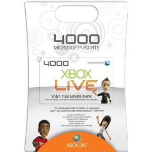 Get 4000 Free Microsoft Points