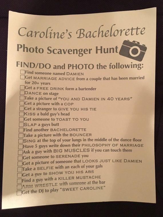 Bachelorette Scavenger Hunt Checklist clean by CDStudioBoutique