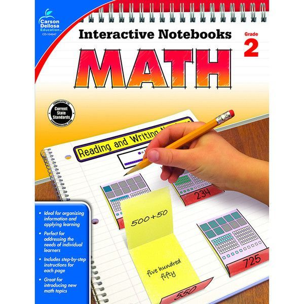 In Interactive Notebooks: Math for second grade, students will complete hands-on activities about place value, arrays, addition and subtraction, measurement, ti