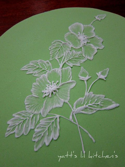 royal icing - brush embroidery   Flickr - Photo Sharing!