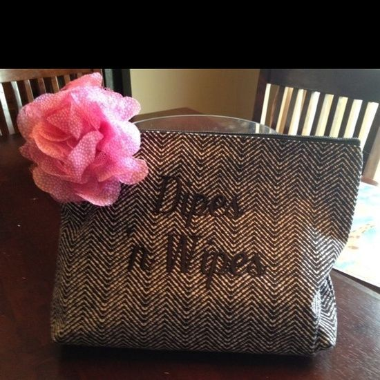 Diaper bags are great, but when you're in a rush and still need to carry around the necessities...This Zipper Pouch is a great product to use just for that.  www.MyThirtyOne.com/BeckyTimmons