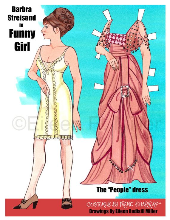 Funny Girl Paper Doll
