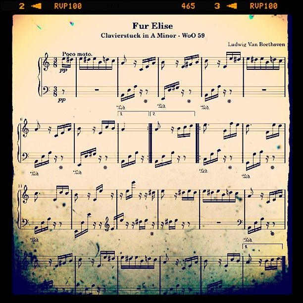 Fur Elise By Beethoven For Beginners Music For Music: Fur Elise - Ludwig Van Beethoven
