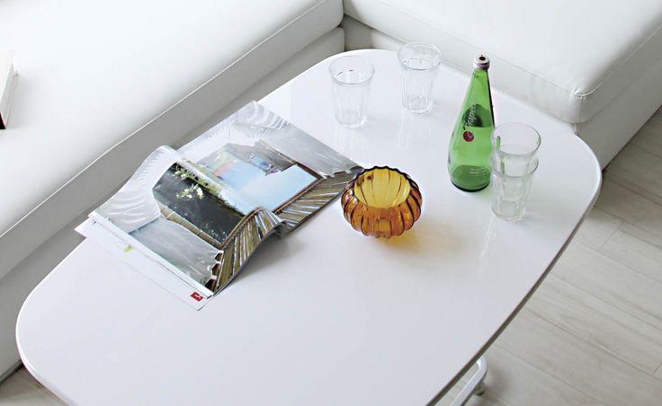 Amazon|AZUMAYA リフトテーブル コンラッド ホワイト色 MIP-53WH|ダイニングテーブル オンライン通販