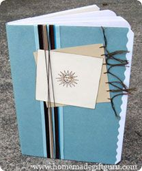 Use these instructions to make your easy homemade journal but decorate it however you like...
