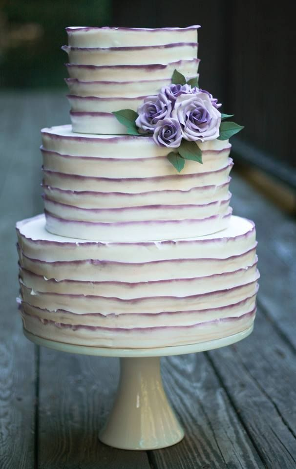 gorgeous idea, color only the edges of your ruffle cake.
