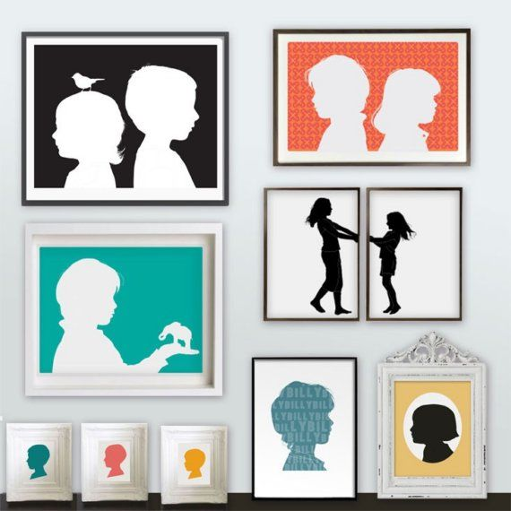 Cute silhouette project. Love the image over two frames.