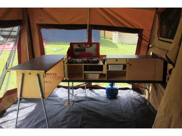 gic camper trailer setup - Google Search                                                                                                                                                     More