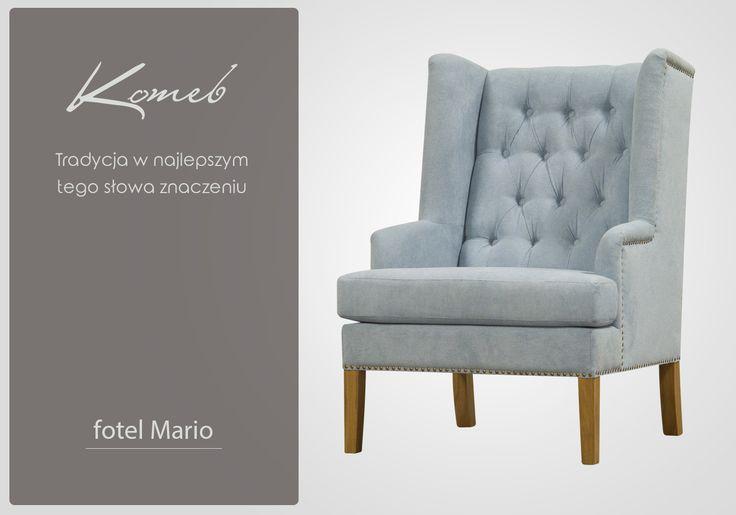 Fotel Mario niebieski