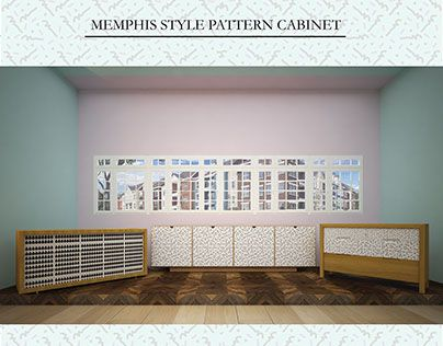 "Check out new work on my @Behance portfolio: ""Memphis Style Pattern Cabinet"" http://be.net/gallery/47153701/Memphis-Style-Pattern-Cabinet"