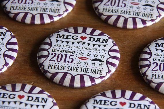 VINTAGE CARNIVAL design Save the Date by WeddingSavetheDates