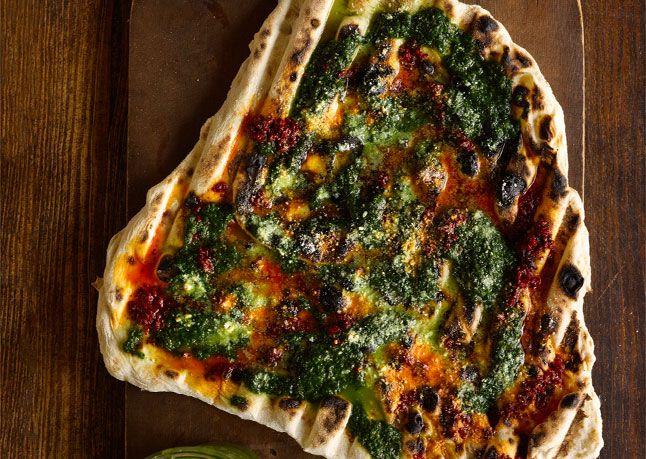 Grilled Flatbread via Bon Appetit