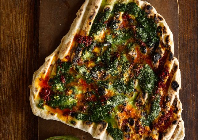 Chad Robertson's Crispy Grilled Flatbreads from Bon Appetit