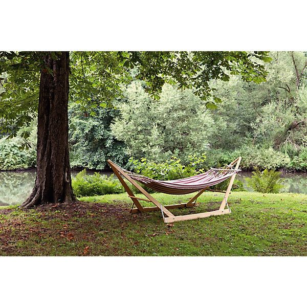 Folding Wood Hammock Stand Plans - WoodWorking Projects & Plans