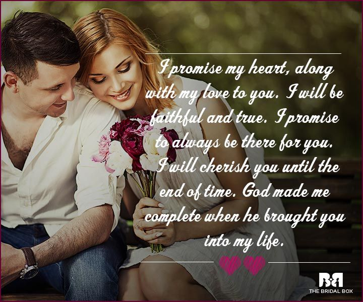 Love Proposal Quotes - I Will Be Faithful And True