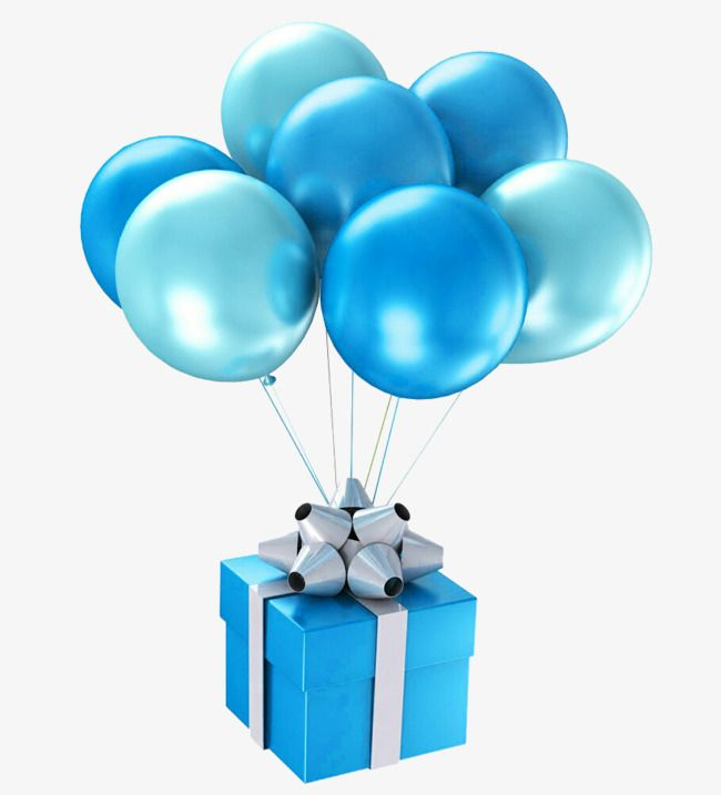 Blue Gift Balloon Gift Clipart Balloon Clipart Blue Balloon Png
