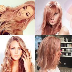 best rose gold hair color   This is the truest form of rose gold hair color. Peachy pink with a ...