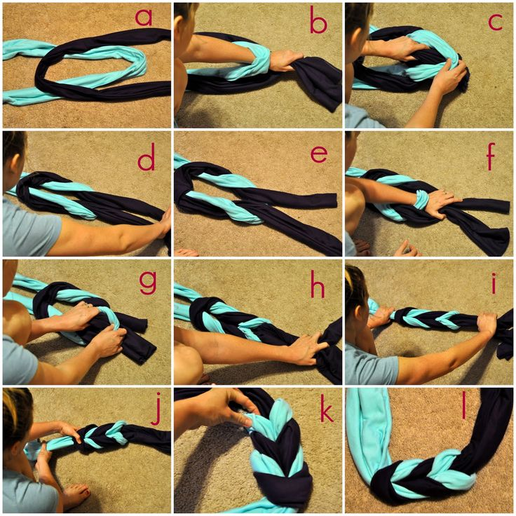 braided scarf tutorial
