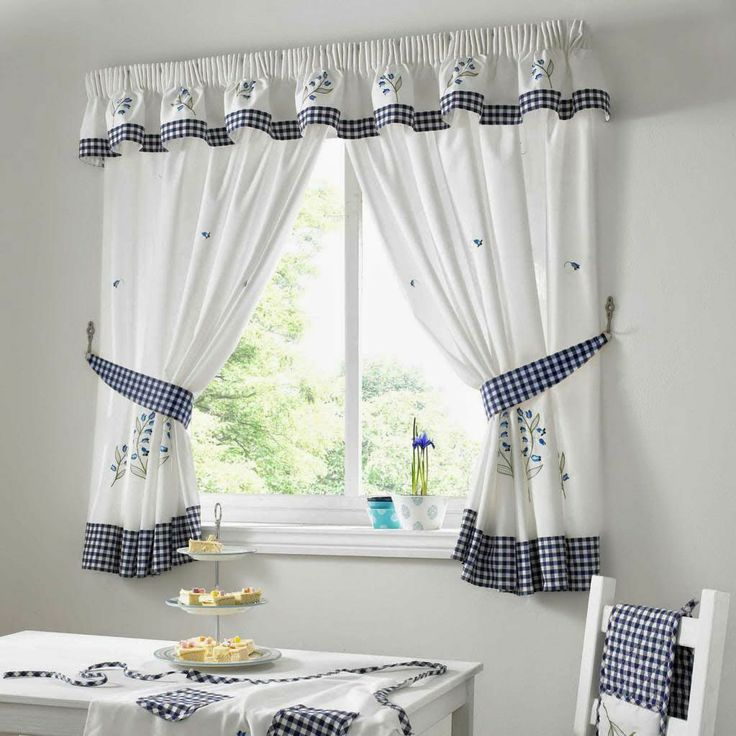 Green Kitchen Curtain Ideas: Kitchen Curtains Blue Gingham. Kitchen Curtains Blue Green