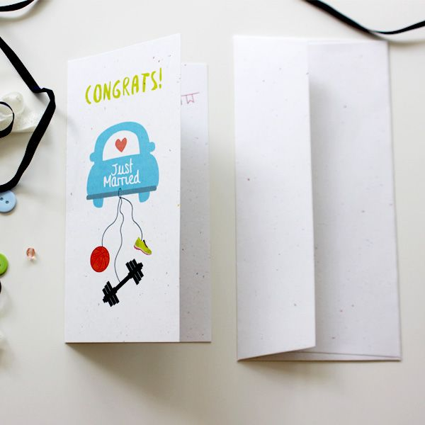 Just Married Card for Basketball and Gym Lover   | Wedding Crad  | Varró Joanna…