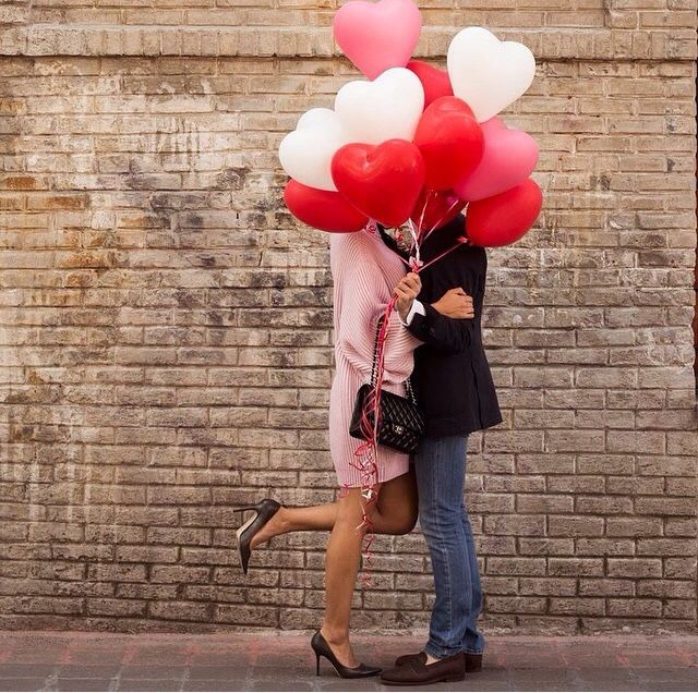 Couple/Engagement Photo with Heart Balloons