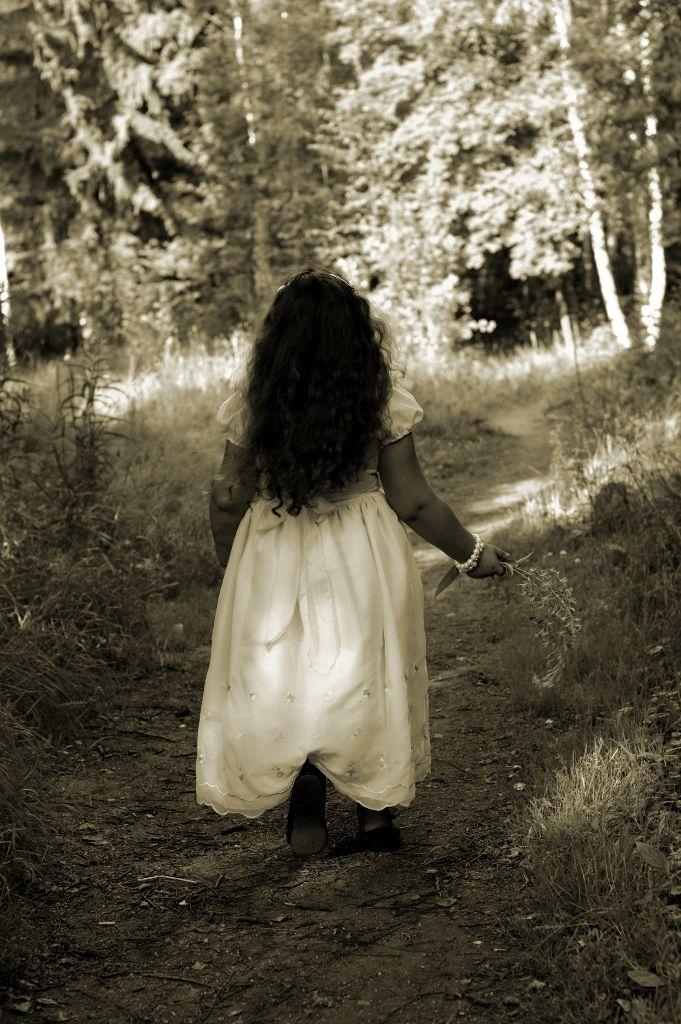 Little girl, forest