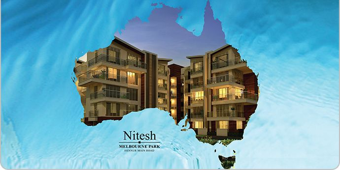 Nitesh Melbourne Park is an upcoming luxury project at Hennur Main Road, Bangalore. Nitesh Melbourne Park will offer low rise apartments in G + 4 floors spread across approximately 11 acres.