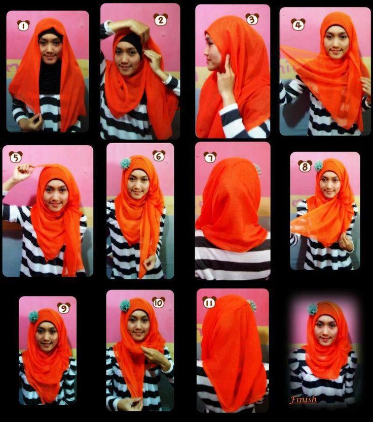 Tutorial Hijab Segi Empat Tanpa Ciput Tutorial hijab segi empat