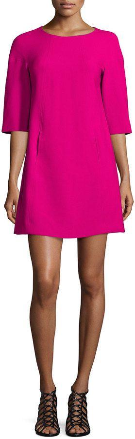 Trina Turk Half-Sleeve Seamed Shift Dress - Holiday Attire