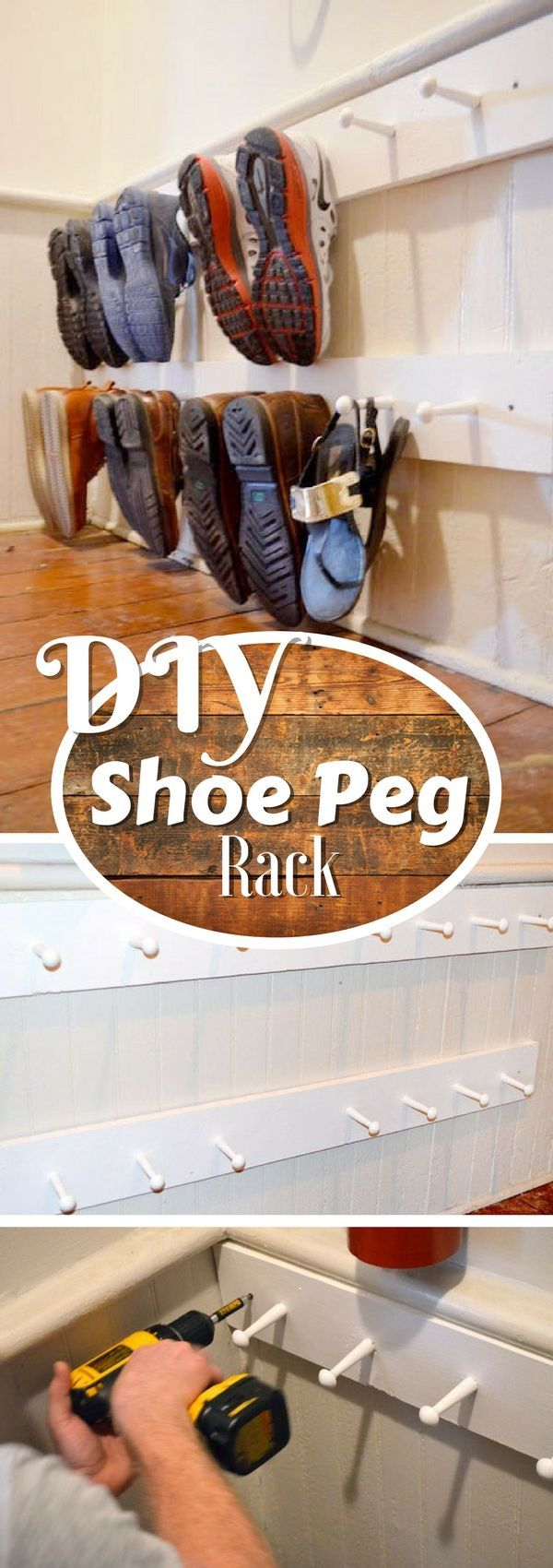 Check out this easy idea on how to build a #DIY shoe peg rack #homedecor #budget #project @istandarddesign