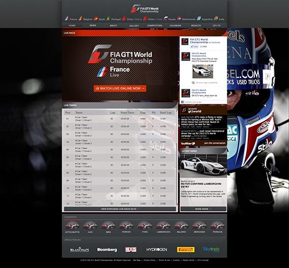 GT1 World - Live race console